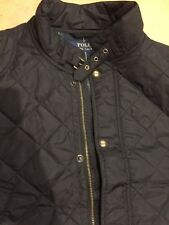 NEW POLO RALPH LAUREN MENS 2XL BLACK  QUILTED VEST Plaid Lining COAT NWT