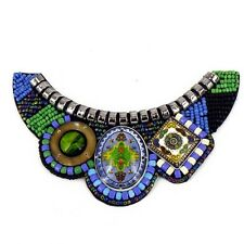 Patch Sewing Chocker bag Decoration Inca Kuchi Afghan Banjara Tribal beads AF9