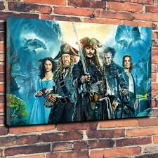 """Pirates Of The Caribbean Dead Men Tell No Tales Canvas A1.30""""x20""""Deep 30mm Frame"""
