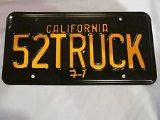 "1952 FORD TRUCK California License Plate (1) ""52TRUCK F-1"" TRUCK"