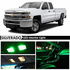 14x Green Interior LED Light Package Kit for 2007-2013 Chevy Silverado