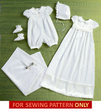 SEWING PATTERN! MAKE BABY BAPTISM~DEDICATION~CHRISTENING GOWN~ROMPER! BOY~GIRL!