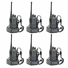 6 Pack Walkie Talkie 2 Two Way Radio Handheld Long Range Marine Police Frs
