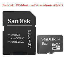 8GB Sandisk Speicherkarte Class 4 TF Flash Memory Card Micro SD Microsd Adapter