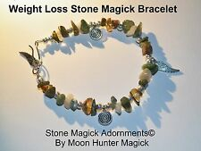 Weight Loss Spell Weight Management Stone Magick Bracelet Reiki Crystal Healing