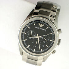 EMPORIO ARMANI AR5980 MENS CHRONOGRAPH SS SILVER TONE LINK BAND QUARTZ  WATCH