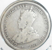 1915 H 1/- AUSTRALIAN STERLING SILVER ONE  SHILLING VERY LOW MINTAGE ( aFINE )