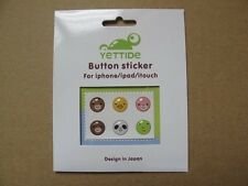 Animal Face Home Button Protector Epoxy Sticker For Apple iPod iPhone 4S 5S iPad