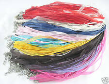 FREE 10pcs Organza Party Set Cord Thread Mixed ribbon voile necklace cord 21""