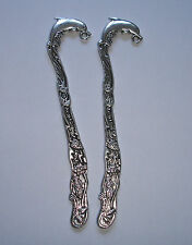 2 tibetan silver Marque-pages Dauphin 12,2 cm
