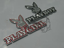 3D CHROME PLAYGIRL PLAYBOY PAIR BUNNY CAR BADGE CLIO CORSA FORD FIESTA POLO GOLF