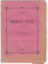 G. ACQUATICCI-COMMEMORAZIONE CENTENARIA DELLA DIVINA COMMEDIA-TREIA 1900-L1657