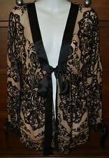 Hale Bob Silk Velvet Beaded Evening Jacket Kimono Size Small