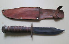 VINTAGE CAMILLUS SURVIVAL KNIFE WITH SHEATH  CAMILLUS NY   11-1981