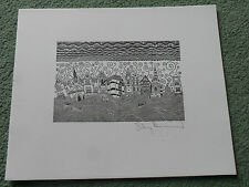 STANLEY DONWOOD - Fleet Street(2008 PROMO SIGNED PRINT / MINT CONDITION)