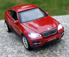 BMW X6 Alloy Diecast 1:32 Car Model Sound & Light Collection Red Color