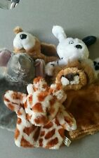 Oriental Trading Co., Inc Plush Animal 3-Finger Hand Puppets Lot of 5