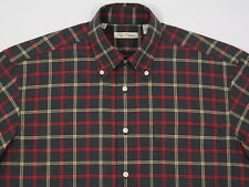 Mens Peter Millar L/S Soft  Flannel Like Cotton Windowpane Plaid  Medium LIKE NU