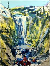 """Earl Biss """"Walking Upon The Thundering Waters St. II"""" on Paper Hand Signed 1983"""