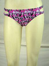 YMI Purple Pink Lined Swimwear Swim Bikini Bottoms Womens Size Small 4 6 NEW