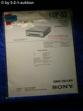 Sony Service Manual CDP S3 CD Player (#5059)