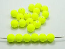"""500 Yellow Matte Neon Beads Acrylic Round Beads 6mm(0.24"""")"""