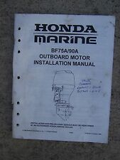 1996 Honda Marine BF75A BF90A Outboard Installation Manual CHECK OUT OUR STORE U