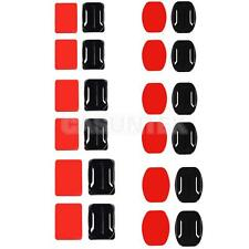 12 Adhesive Sticker Flat Curved Mount For Gopro Hero 1/2/3/4 Action Camera