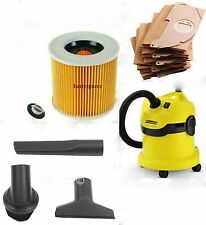 TOOL KIT FILTER & DUST hoover BAGS for KARCHER Wet & Dry Vacuum Cleaners