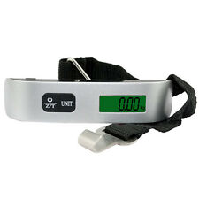 Digital Luggage Hanging Scale Travel Suitcase&Hook Strap Max 50KG Electronic