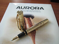 Aurora Leonardo da Vinci Limited Edition all-gold-plated rollerball pen MIB