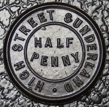 HIGH STREET SUNDERLAND - HALF PENNY-1/2D - BLACKETT & SON LTD. -Plastic Coin-NCC