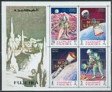 Fujeira 1969 ** Bl.16 A Weltraum Space Apollo ovpt. in gold Moon Landing