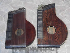 2x vecchio Zither Cetra concerto JOSEF THUMHART + P. Ed. HALL Germania 19Jhd