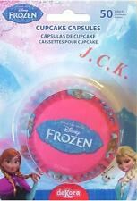 50 FROZEN BIRTHDAY PARTY CUPCAKE BAKING PAPER CASES DECORATIONS DECORATIONS