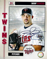 Boof Bonser Minnesota Twins Signed 8x10 Photo with COA
