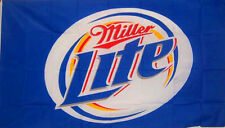 Miller Lite Beer Flag 3' X 5' Deluxe Indoor Outdoor Banner