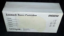 LEXMARK 69G8256 TONER CARTRIDGE 3000 Page OPTRA E Box label tear shown - GENUINE