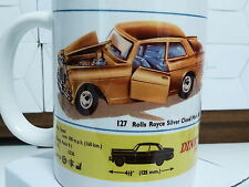 300ml COFFEE MUG, DINKY TOYS NO.127 ROLLS ROYCE SILVER CLOUD MARK III