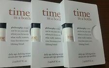 Philosophy Time In A Bottle For Eyes-Daily Age Defying Eye Serum 07.oz x 3