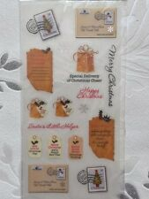 NEW Papermania TRADITIONAL CHRISTMAS LISTS Adhesive Vellum Stickers  Cardmaking