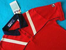 POLO T-SHIRT stile vintage 80's  FILA WHITE LINE era Borg TG.48 - S New! RARE