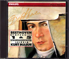 Kurt MASUR: BEETHOVEN Symphony No.1 & 5 Gewandhausorchester Leipzig PHILIPS CD