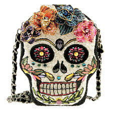 Mary Frances Sugar Rush Day of the Dead Flower Beaded New Handbag Purse Bag New