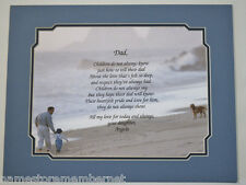 PERSONALIZED POEM FOR YOUR FATHER DAD FOR HIS BIRTHDAY, OR FATHER'S DAY