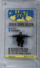 Collector Safe New Sports Card Screw Down Recessed Holders-5-Sealed-NIB