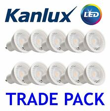 10x Kanlux PRO GU10 Spot Light Bulb LED 7W 120 Degree Lamp 6500K Daylight White