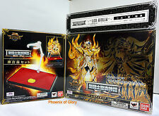 NEW BANDAI SAINT SEIYA MYTH SOUL OF GOLD GOD CLOTH EX LEO W/ BONUS+GOD STAGE SET