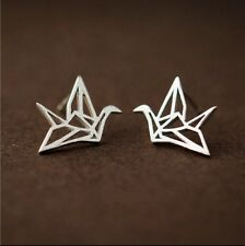 925 Sterling Silver Earrings Studs Papercranes Bird Crane