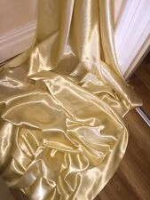 "1 MTR LIGHT GOLD SATIN LINING FABRIC...58"" WIDE"